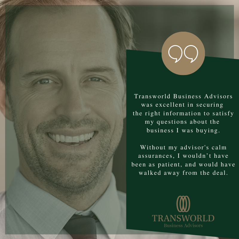 Transworld Business Advisors franchisee supports his client to escape the corporate world